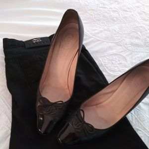 Chanel blk heels